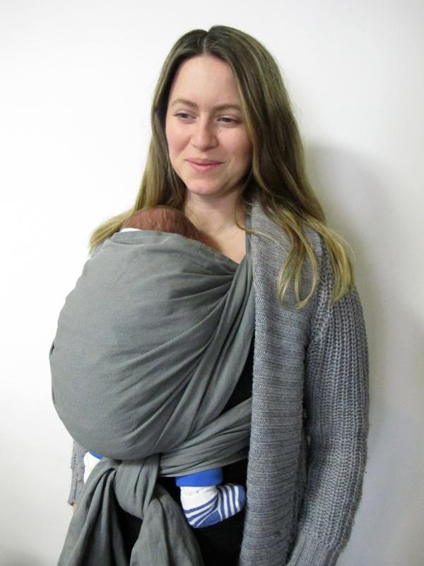 echarpe de portage nourrisson en hiver